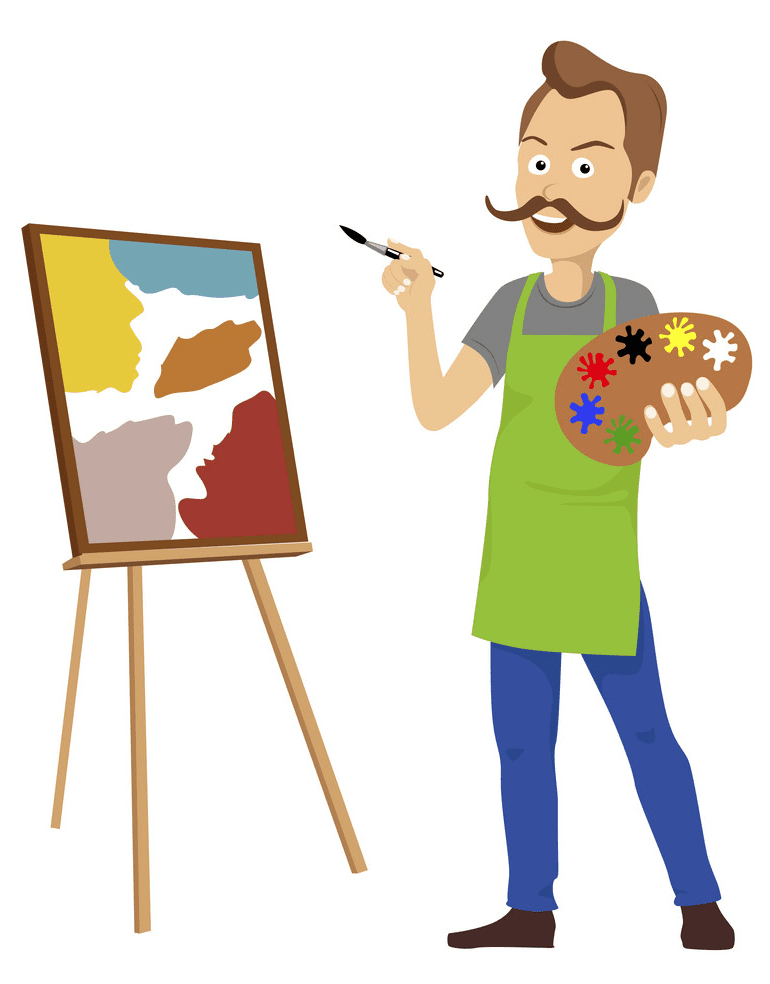 Artist clipart free image