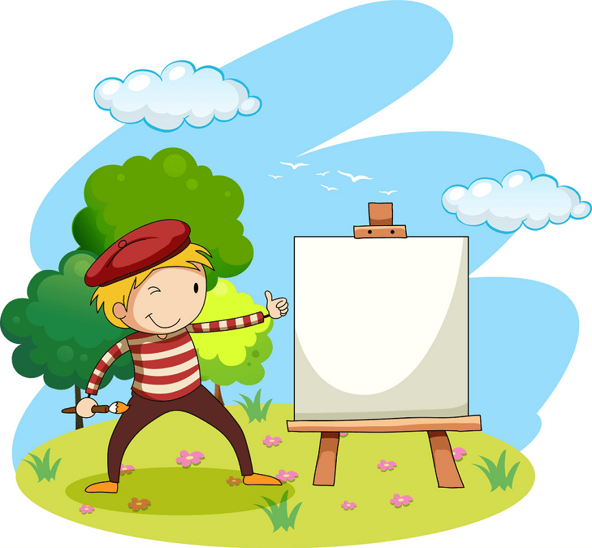 Artist clipart png for kids