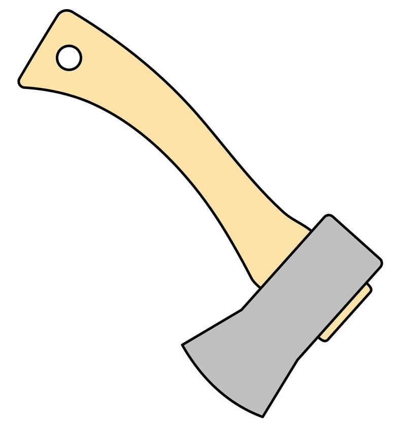 Axe clipart 7