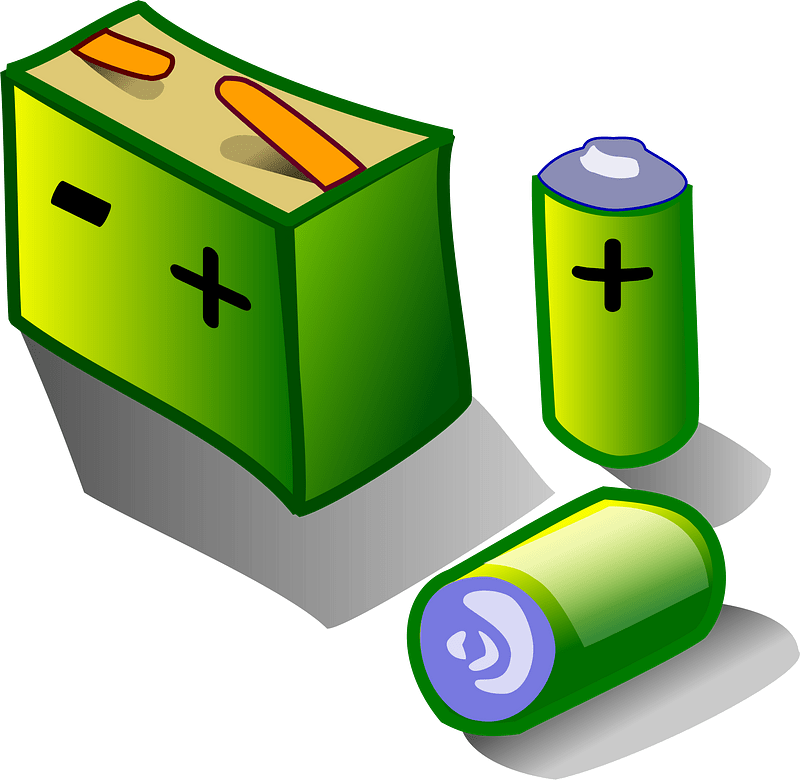 Batteries clipart transparent