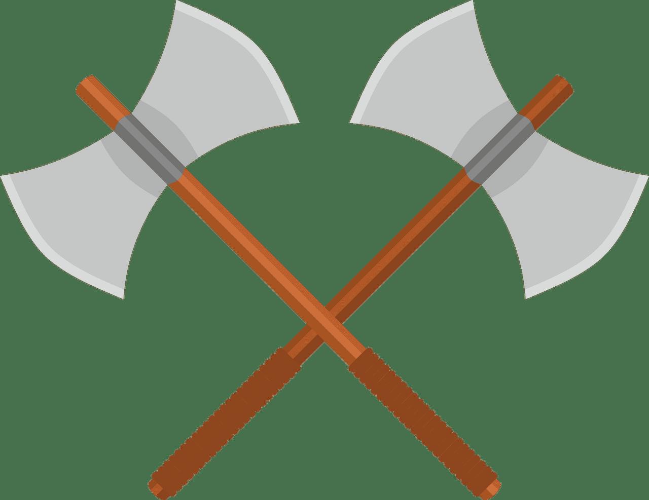Battle Axes clipart transparent free