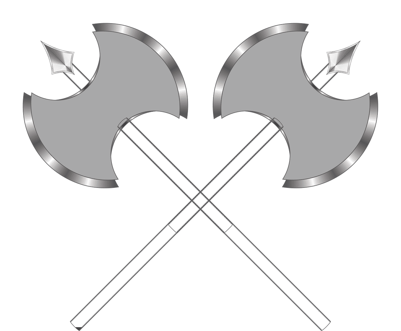Battle Axes clipart transparent