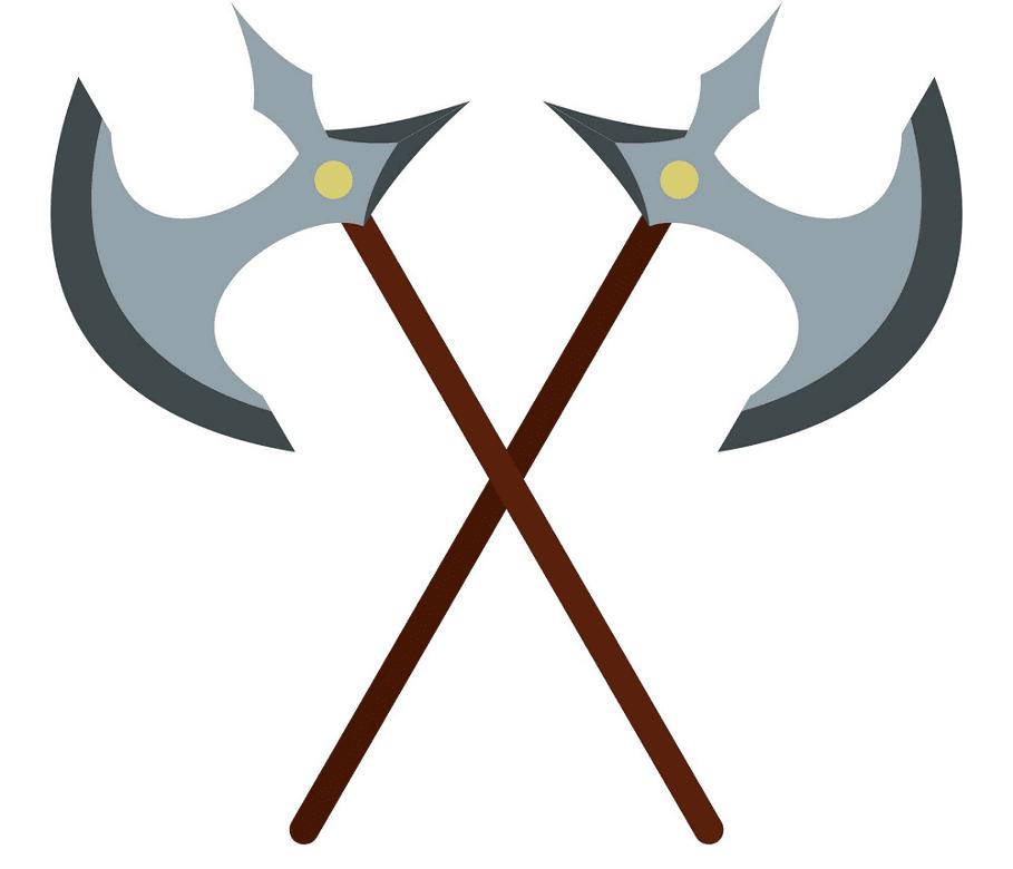 Battle Axes clipart