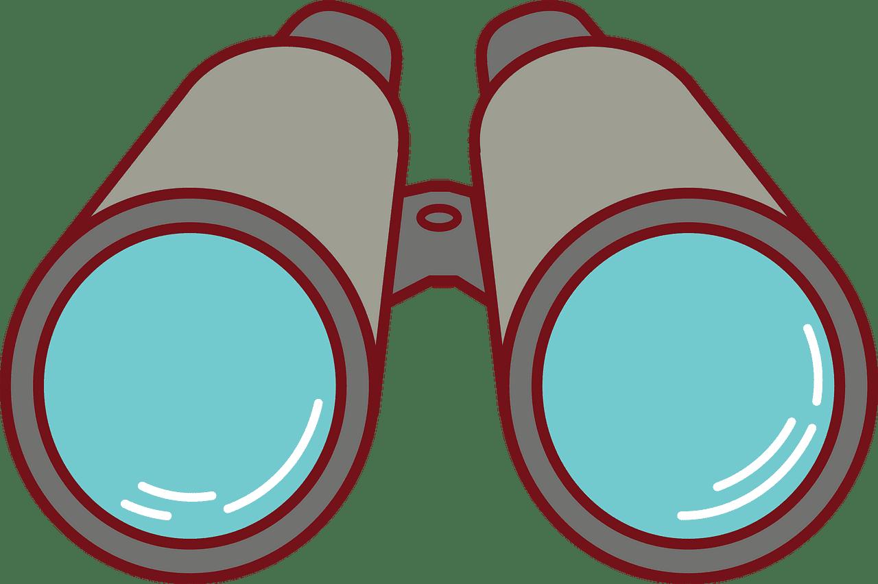 Binoculars clipart transparent for free
