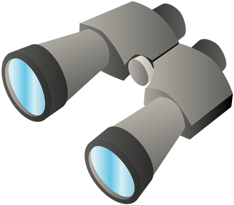 Binoculars clipart transparent for kid