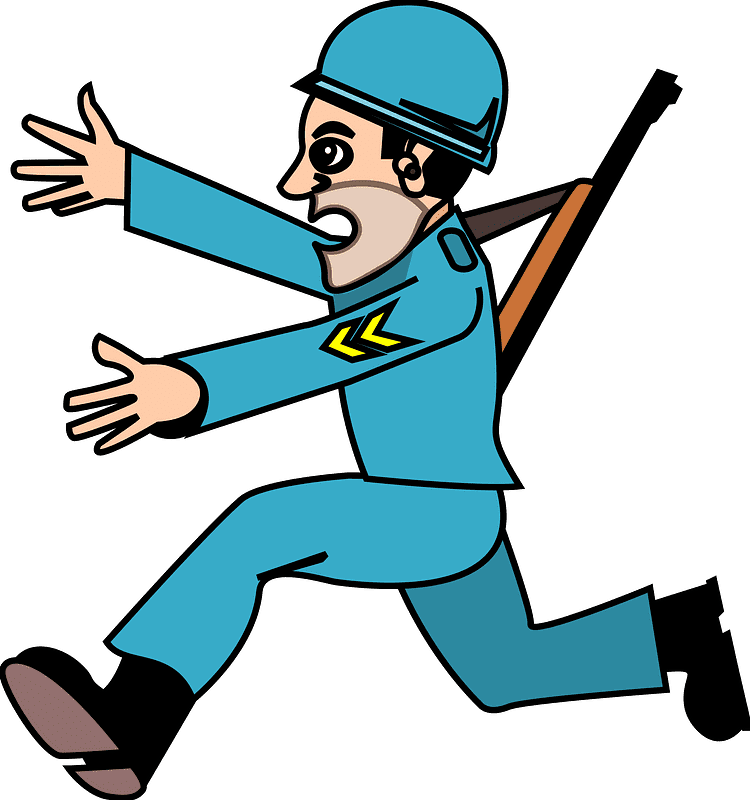 Blue Soldier clipart transparent