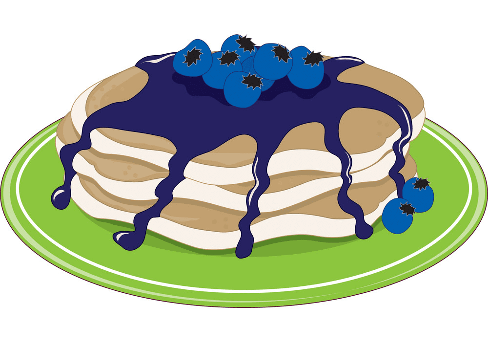 Blueberry Pancakes clipart