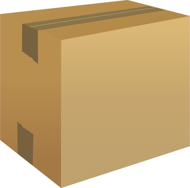 Box clipart transparent background 1
