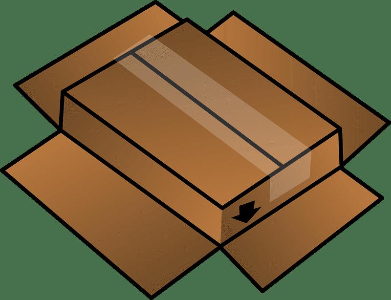 Box clipart transparent background 2