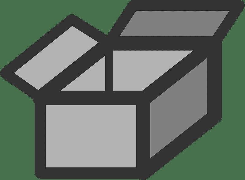 Box clipart transparent background 5