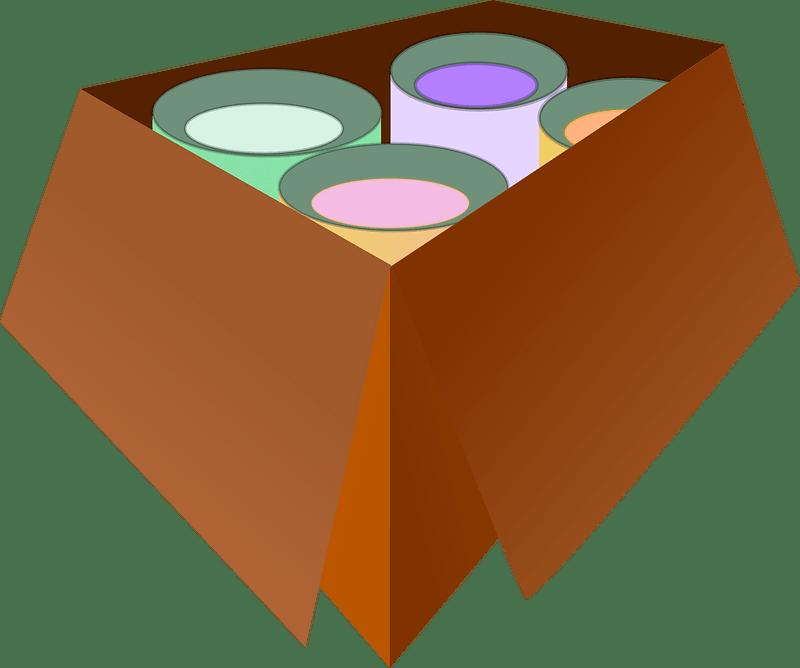 Box clipart transparent background 6