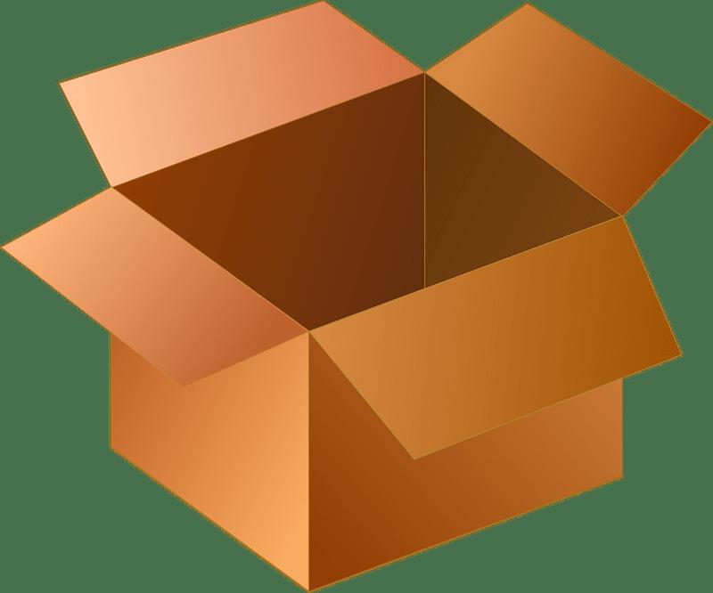 Box clipart transparent background 7
