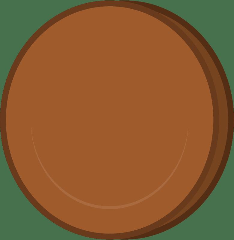 Brown Coin clipart transparent