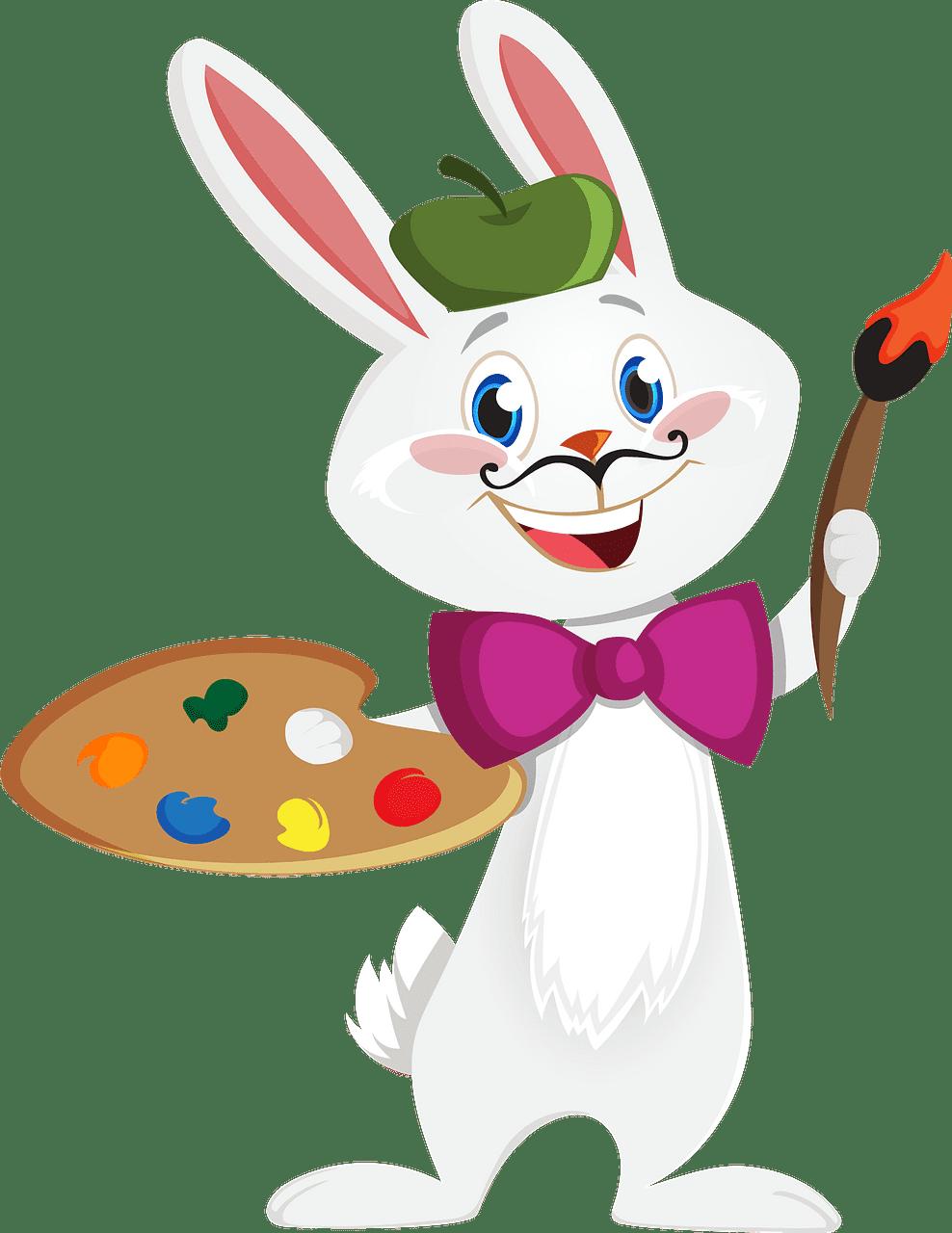 Bunny Artist clipart transparent