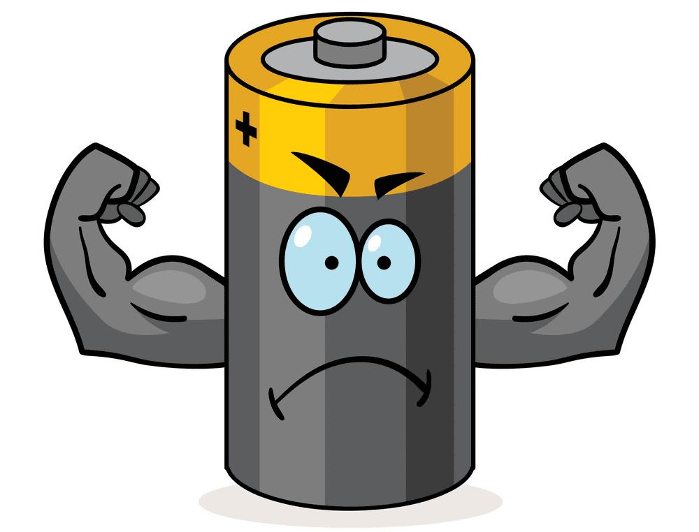 Cartoon Battery clipart