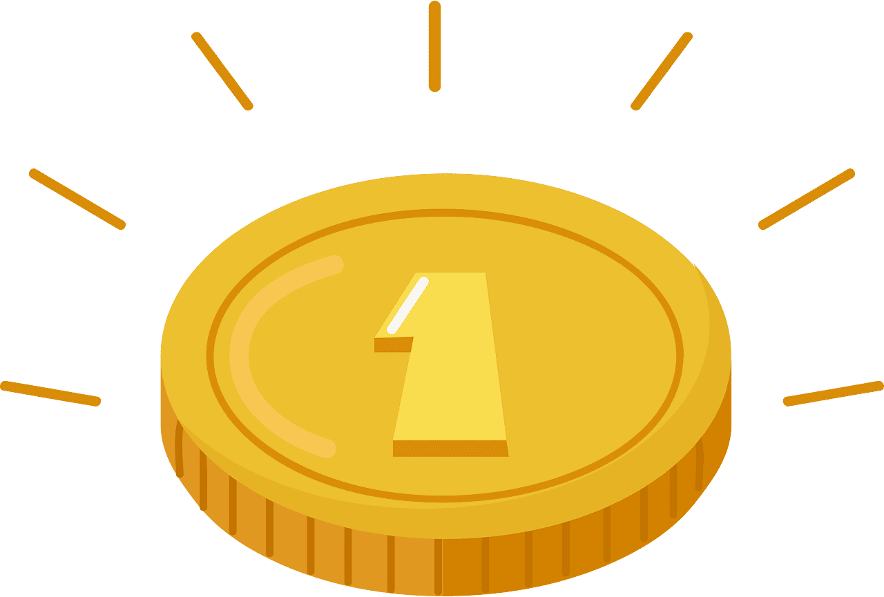Coin clipart transparent background 1