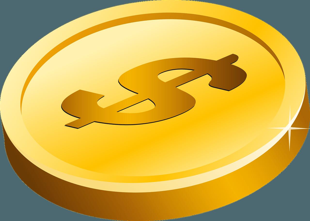 Coin clipart transparent picture