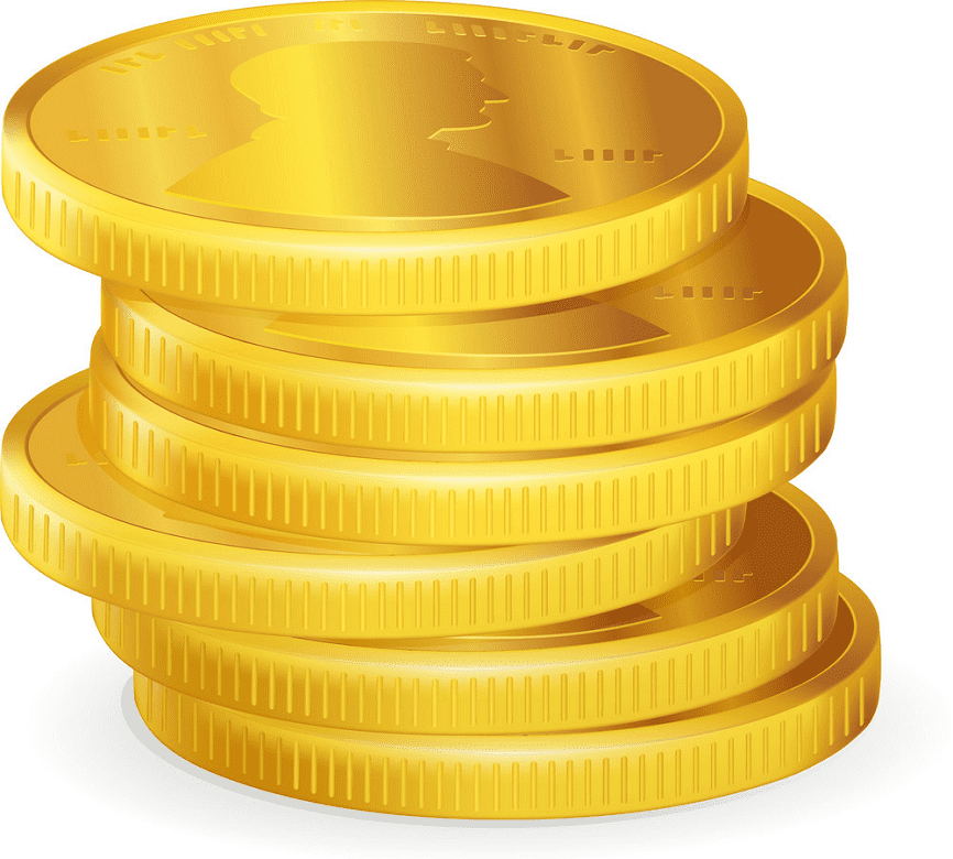 Coins clipart for free
