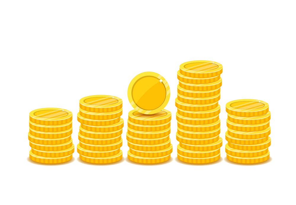 Coins clipart for kid