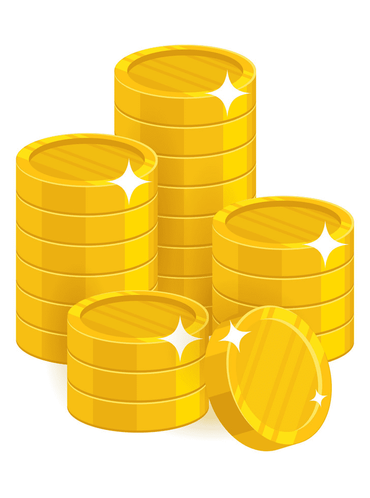 Coins clipart for kids