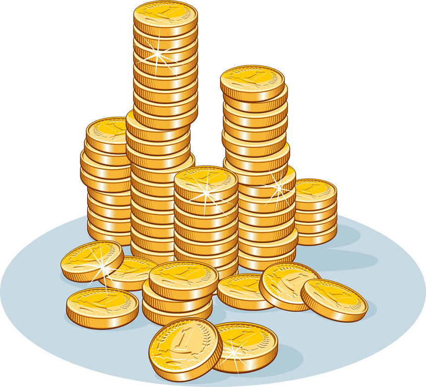 Coins clipart free