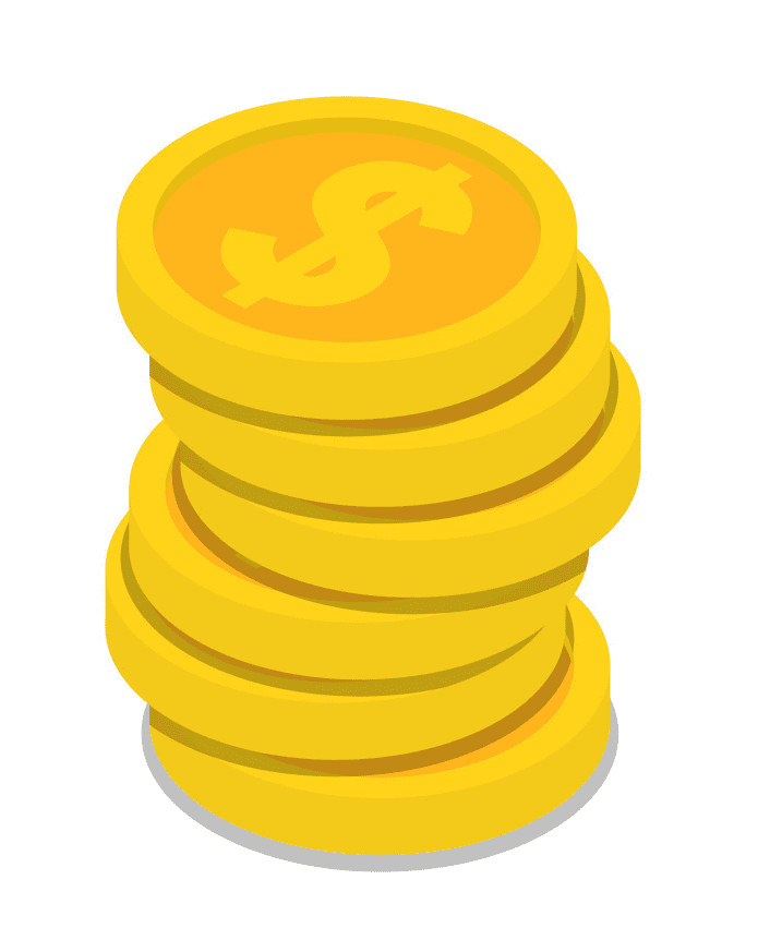 Coins clipart png image