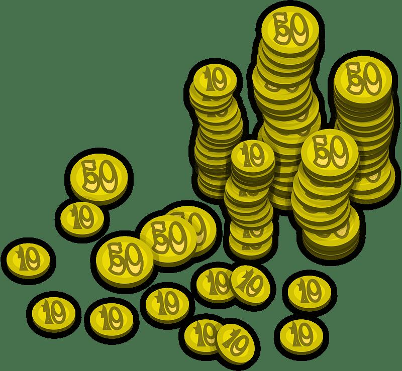 Coins clipart transparent 1
