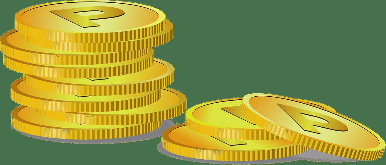 Coins clipart transparent background