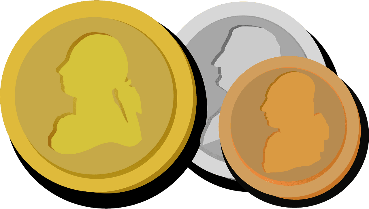 Coins clipart transparent for free