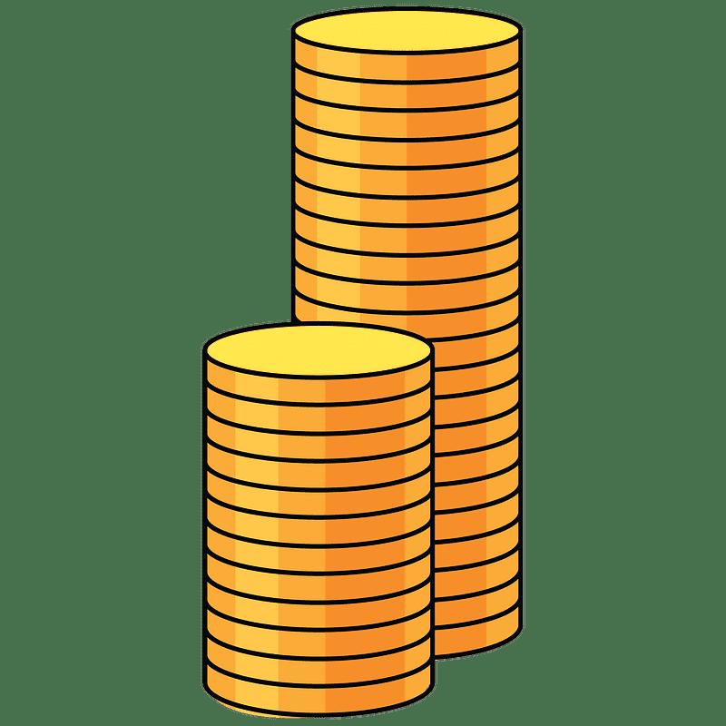 Coins clipart transparent for kids