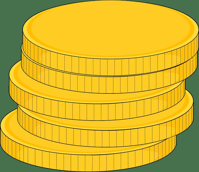 Coins clipart transparent picture