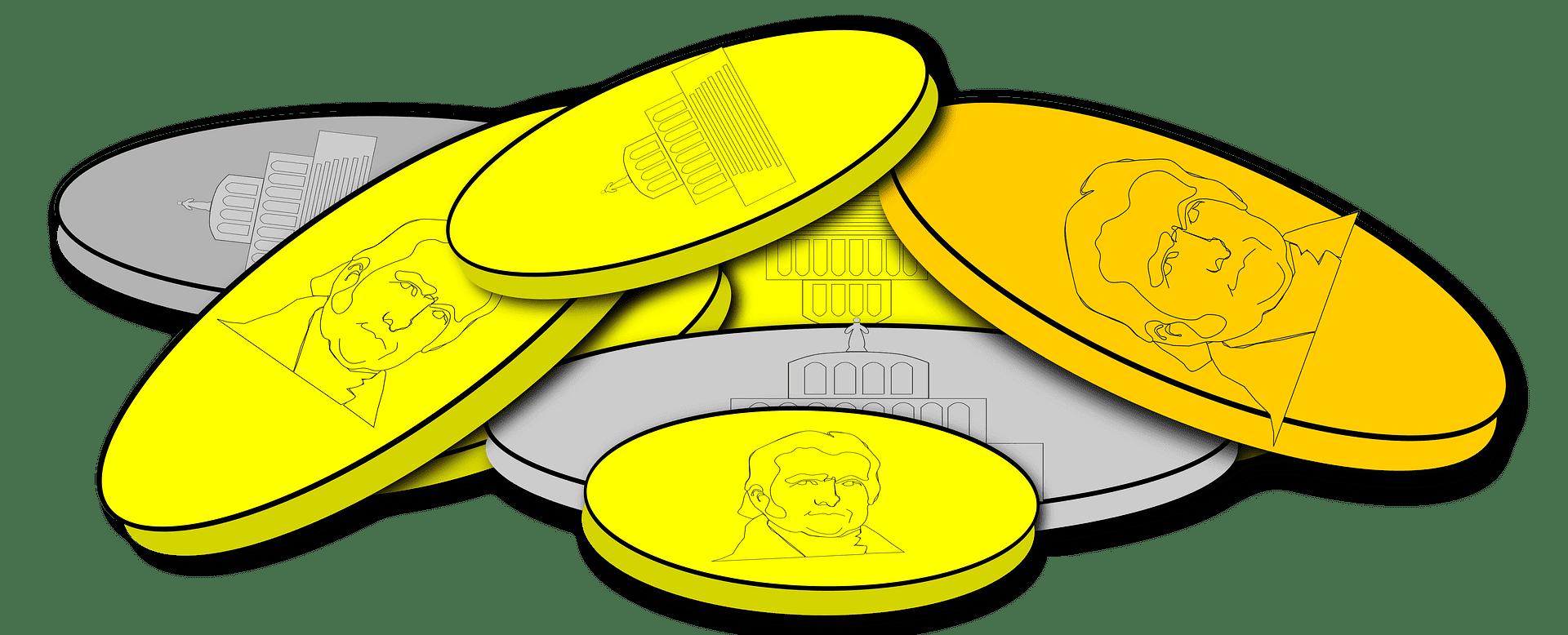 Coins clipart transparent png