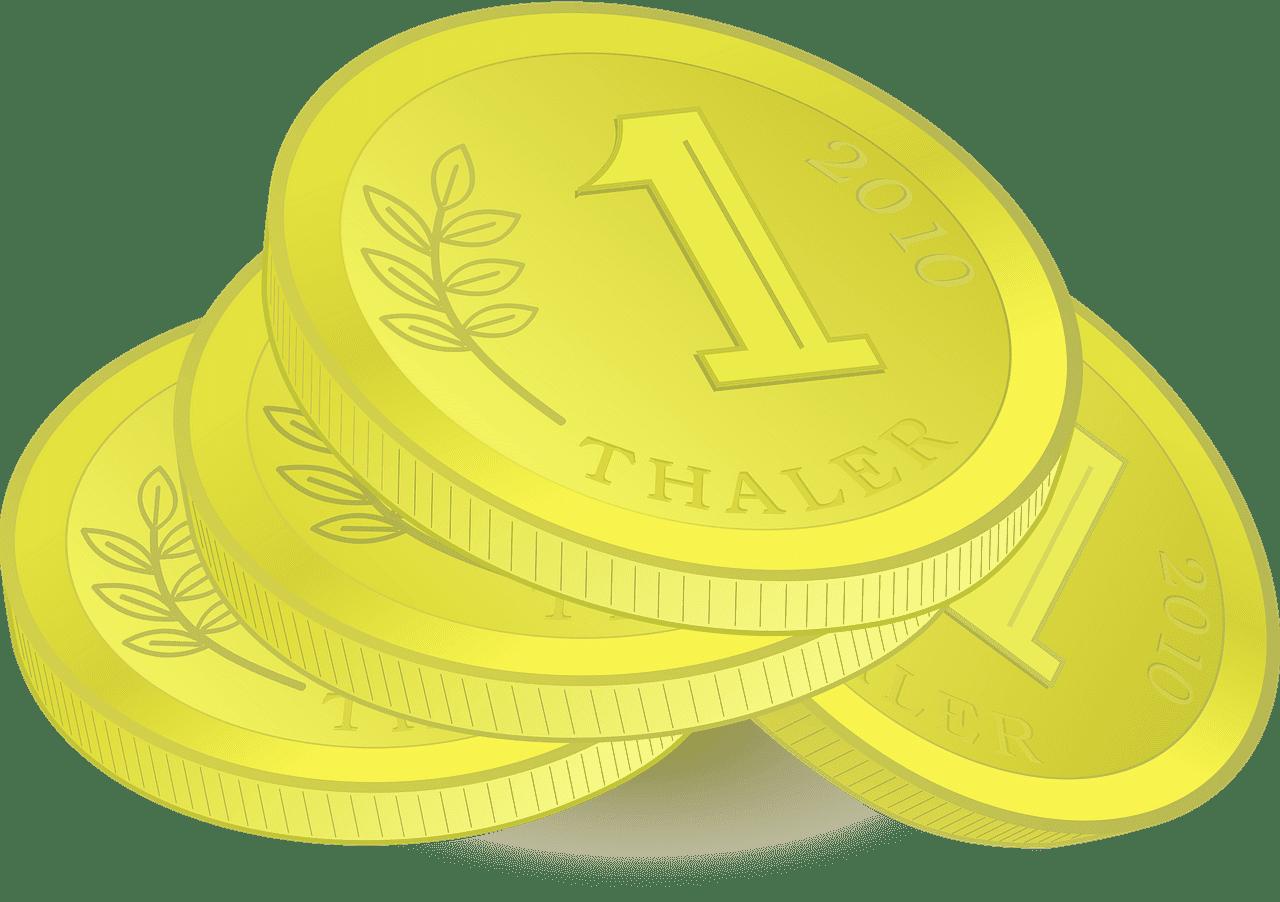 Coins clipart transparent