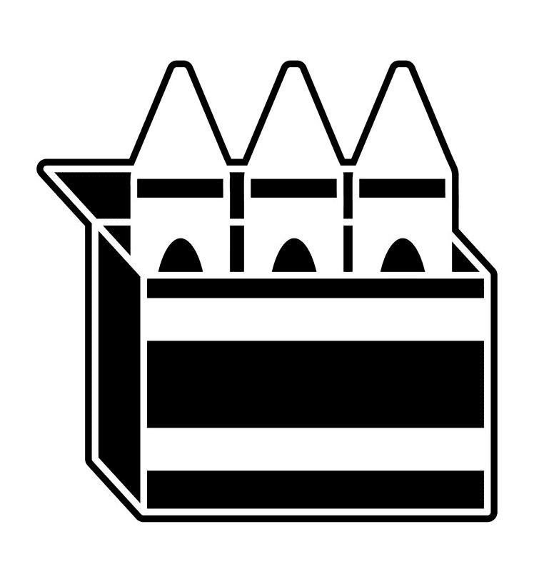 Crayon Box clipart free image
