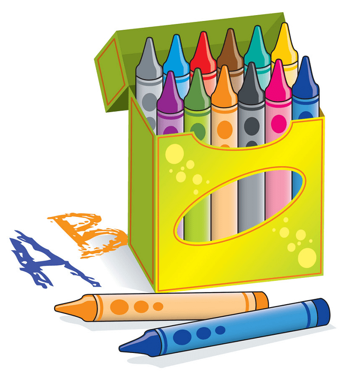Crayon Box clipart free images