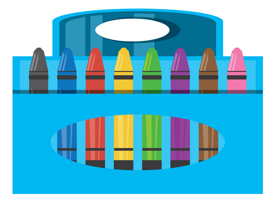 Crayon Box clipart free