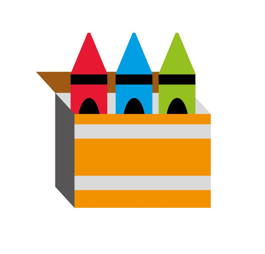 Crayon Box clipart image