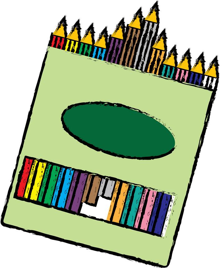 Crayon Box clipart png free