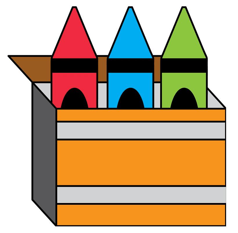 Crayon Box clipart png images