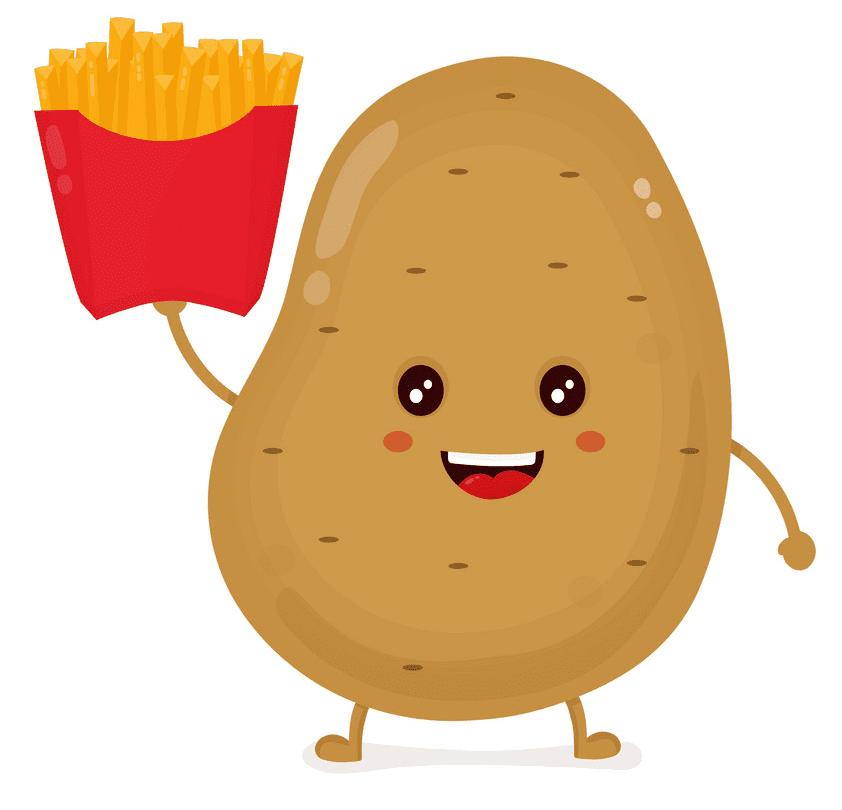 Cute Potato clipart for free