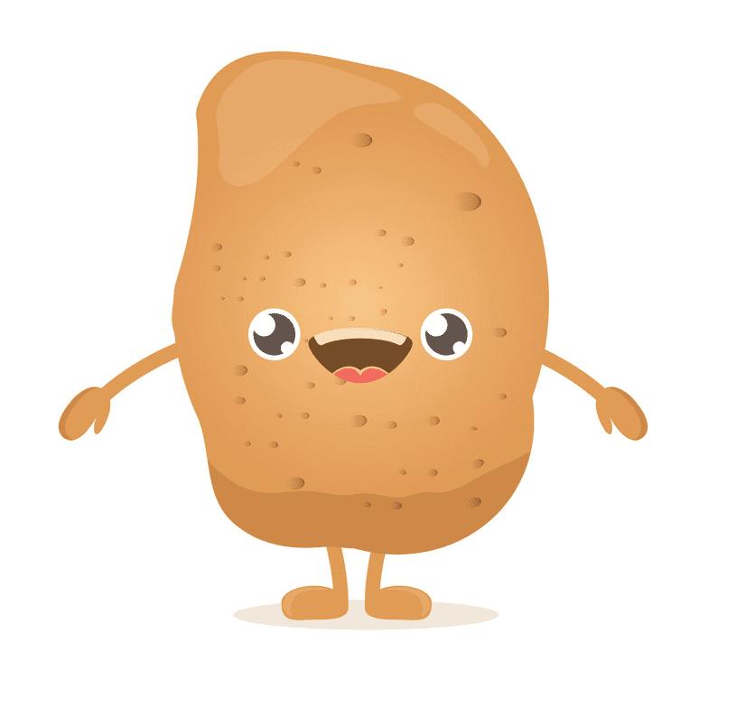Cute Potato clipart for kid