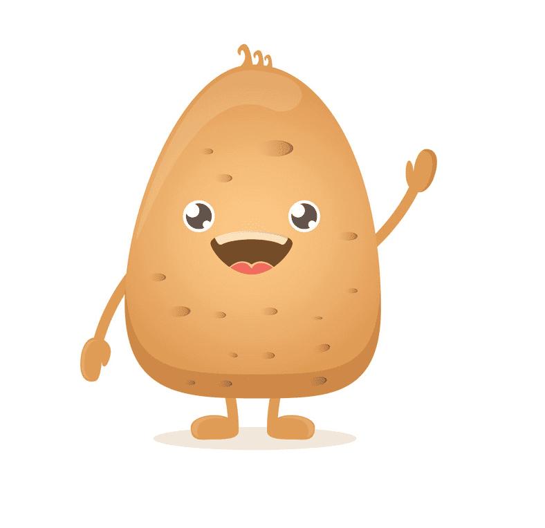 Cute Potato clipart image