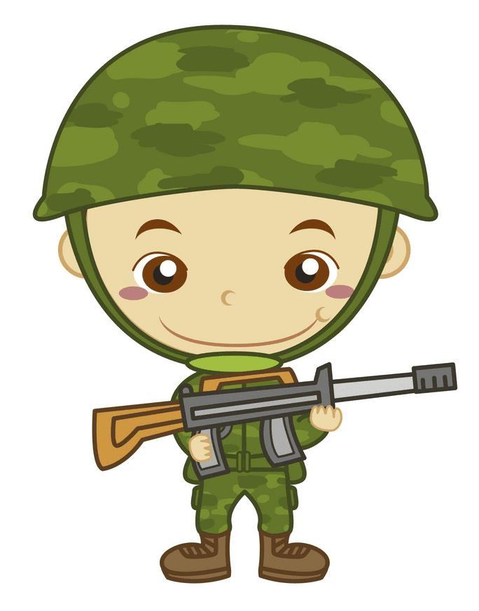 Cute Soldier clipart