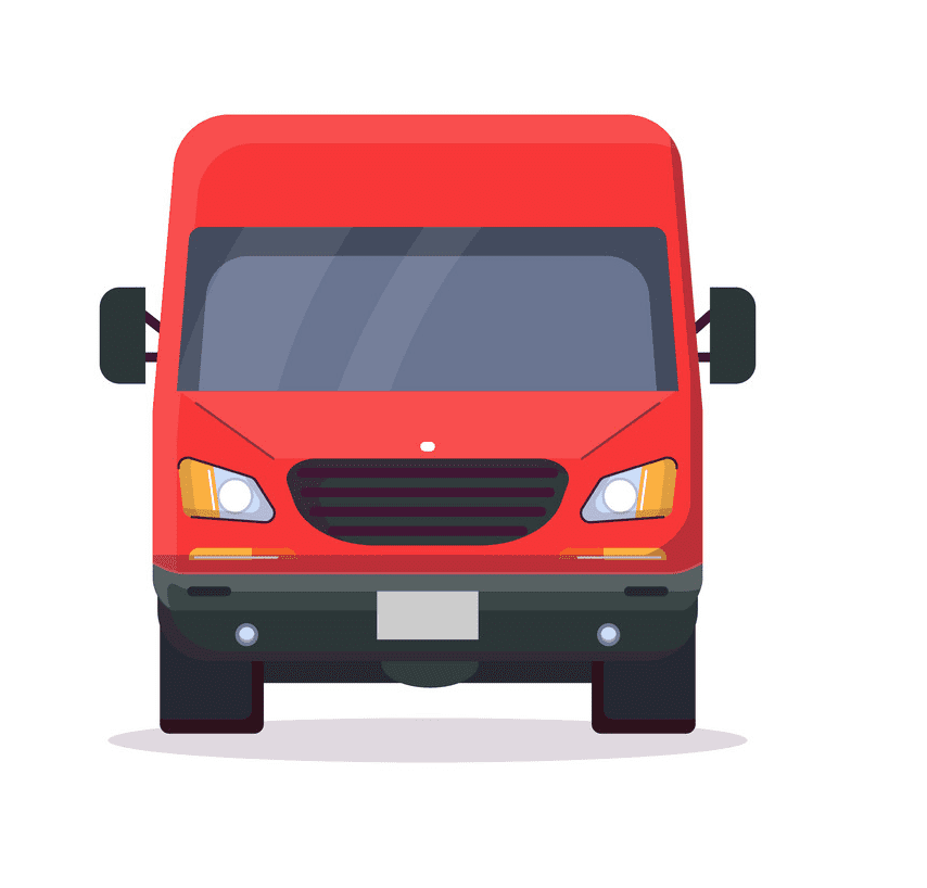 Delivery Van clipart for free