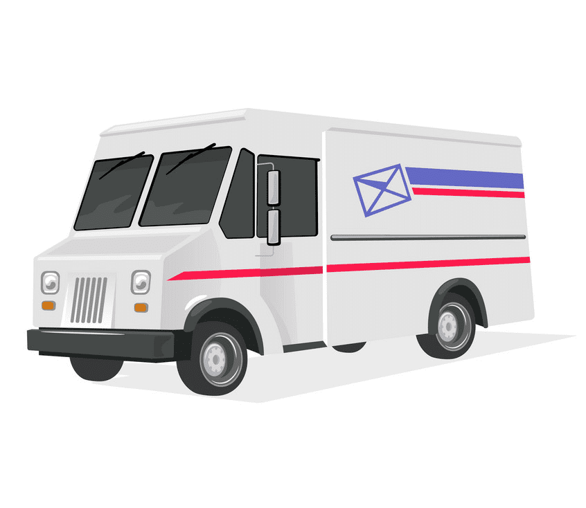 Delivery Van clipart free