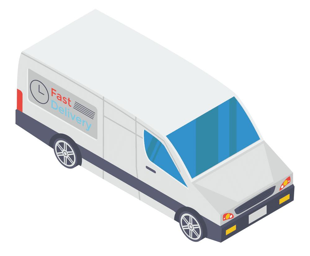 Delivery Van clipart image