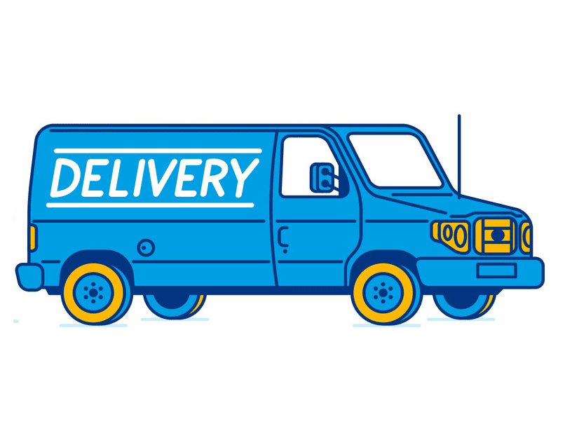 Delivery Van clipart picture