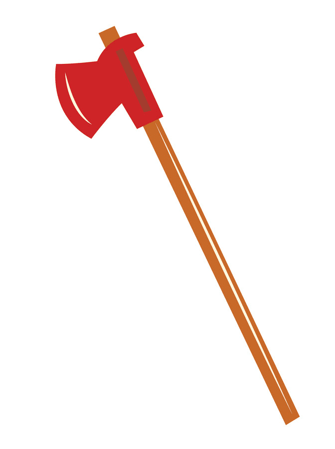 Firefighter Axe clipart free