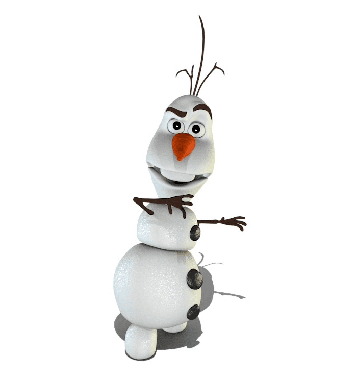 Free Olaf clipart png for kids