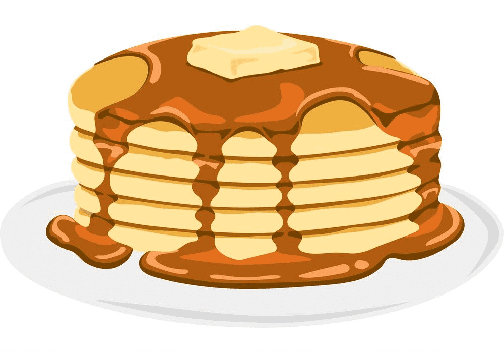Free Pancakes clipart for kid